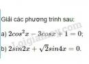 Bài 2 trang 36 SGK Đại số và Giải tích 11