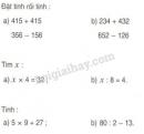 Bài 1, 2, 3, 4 trang 18 SGK Toán 3