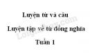 Luyện từ và câu: Luyện tập về từ đồng nghĩa trang 13 SGK Tiếng Việt lớp 5 tập 1