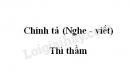 Chính tả bài Thì thầm trang 133 SGK Tiếng Việt 3 tập 2