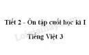 Tiết 2 - Ôn tập cuối học kì I trang 148 SGK Tiếng Việt 3 tập 1