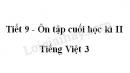 Tiết 9 - Ôn tập cuối học kì II trang 143 SGK Tiếng Việt 3 tập 2