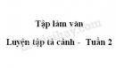 Tập làm văn: Luyện tập tả cảnh trang 21 SGK Tiếng Việt 5 tập 1
