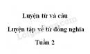 Luyện từ và câu: Luyện tập về từ đồng nghĩa trang 22 SGK Tiếng Việt 5 tập 1