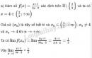 Bài 1 trang 132 SGK Đại số và Giải tích 11