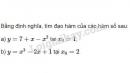 Bài 1 trang 162 SGK Đại số và Giải tích 11