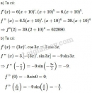 Bài 1 trang 174 sách giáo khoa Đại số và Giải tích 11