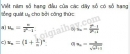Bài 1 trang 92 SGK Đại số và Giải tích 11