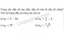 Bài 1 trang 97 SGK Đại số và Giải tích 11