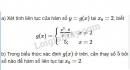 Bài 2 trang 141 (Hàm số liên tục) SGK Đại số và Giải tích 11