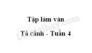 Tập làm văn: Tả cảnh (Kiểm tra viết) trang 44 SGK Tiếng Việt 5 tập 1