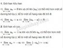 Lý thuyết về giới hạn của dãy số.