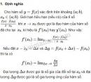 Lý thuyết định nghĩa và ý nghĩa của đạo hàm