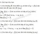 Lý thuyết về giới hạn của hàm số.