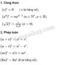 Lý thuyết Quy tắc tính đạo hàm