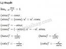 Lý thuyết đạo hàm của hàm số lượng giác
