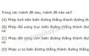 Bài 2 trang 35 SGK Hình học 11