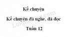 Kể chuyện: Kể chuyện đã nghe, đã đọc trang 116 SGK Tiếng Việt 5 tập 1