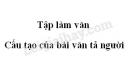 Tập làm văn: Cấu tạo của bài văn tả người trang 119 SGK Tiếng Việt 5 tập 1