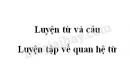 Luyện từ và câu: Luyện tập về quan hệ từ trang 121 SGK Tiếng Việt 5 tập 1