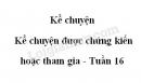 Kể chuyện: Kể chuyện được chứng kiến hoặc tham gia trang 157 SGK Tiếng Việt 5 tập 1
