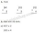 Bài 1, 2, 3, 4 trang 55 SGK Toán 3