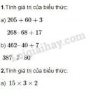 Bài 1, 2, 3, 4 trang 79 SGK Toán 3