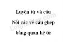 Luyện từ và câu: Nối các vế câu ghép bằng quan hệ từ trang 44 SGK Tiếng Việt 5 tập 2