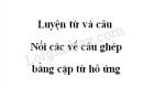 Luyện từ và câu: Nối các vế câu ghép bằng cặp từ hô ứng trang 64 SGK Tiếng Việt 5 tập 2