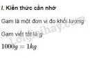Lý thuyết gam trang 65 SGK Toán 3
