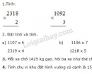 Bài 1, bài 2, bài 3, bài 4 Tiết 110 trang 115 sgk Toán 3
