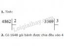 Bài 1, 2, 3 trang 117 SGK Toán 3