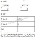 Bài 1, 2, 3 trang 161 SGK Toán 3