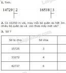 Bài 1, 2, 3 trang 164 SGK Toán 3