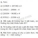 Bài 1, 2, 3, 4 trang 168 SGK Toán 3