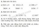 Bài 1, 2, 3, 4 trang 120 (Luyện tập chung) SGK Toán 3