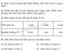 Bài 1, bài 2, bài 3, bài 4 Tiết 123 trang 129 sgk Toán 3