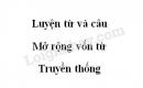 Luyện từ và câu: Mở rộng vốn từ: Truyền thống trang 81 SGK Tiếng Việt 5 tập 2