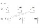 Bài 1, 2, 3, 4, 5 trang 90 SGK Toán 3