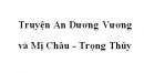 Truyện An Dương Vương và Mị Châu Trọng Thủy