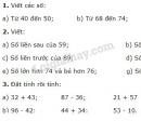 Bài 1, 2, 3, 4 trang 10, 11 SGK Toán 2