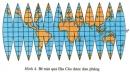 Vẽ bản đồ là biểu hiện mặt cong hình cầu của Trái Đất lên mặt phẳng của giấy