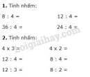 Bài 1, 2, 3, 4, 5 trang 120 SGK Toán 2