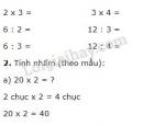 Bài 1, 2, 3, 4, 5 trang 135 sgk Toán lớp 2