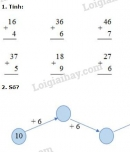 Bài 1, 2, 3, 4 trang 35 sgk toán 2
