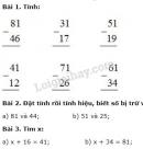 Bài 1, 2, 3 trang 50 SGK Toán 2