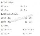 Bài 1, 2, 3, 4, 5 trang 60 sgk toán 2
