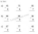 Bài 1, 2 trang 66 sgk toán 2