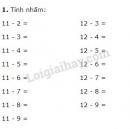 Bài 1, 2 trang 69 sgk toán 2