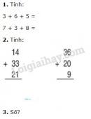 Bài 1, 2, 3 trang 91 SGK Toán 2